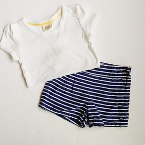 Janie and Jack Navy and White Outfit 4T